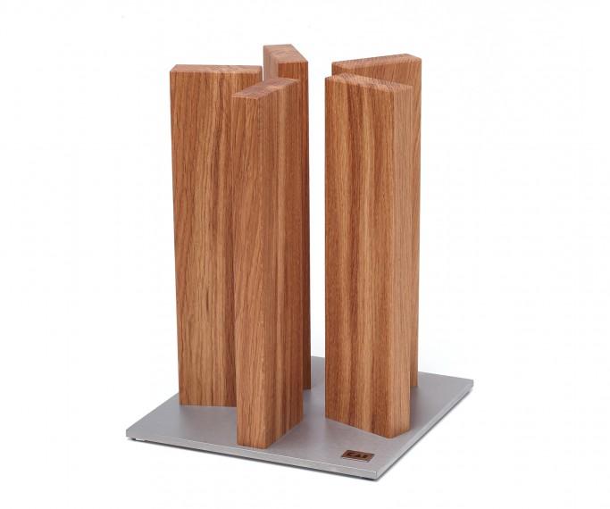 kai sth 3 magnet messerblock stonehenge edelstahl eiche messer aufbewahren messerbl cke. Black Bedroom Furniture Sets. Home Design Ideas