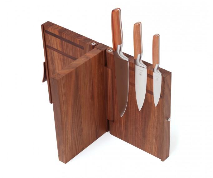 sarah wiener messerblock 2 seitig mit schneidbrett sarah wiener kochmesser zwetschge rosenholz. Black Bedroom Furniture Sets. Home Design Ideas